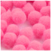 Acrylic Pom Pom, 25mm, 100-pc, Hot Pink
