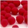 Acrylic Pom Pom, 25mm, 100-pc, Red