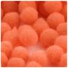 Acrylic Pom Pom, 25mm, 25-pc, Orange