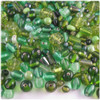Glass Beads, Assorted, 6-12mm, 1oz=28g, The Crafts Outlet, Light Green