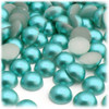 Half Dome Pearl, Plastic beads, 10mm, 144-pc, Aquamarine Blue