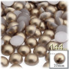Half Dome Pearl, Plastic beads, 10mm, 144-pc, Cocco Butter Brown