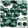 Half Dome Pearl, Plastic beads, 10mm, 144-pc, Forest Green