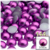 Half Dome Pearl, Plastic beads, 10mm, 144-pc, Fuchsia Pink