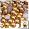 Half Dome Pearl, Plastic beads, 10mm, 144-pc, Golden Caramel Brown