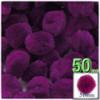 Acrylic Pom Pom, 51mm, 50-pc, Fuchsia