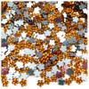 Acrylic Flatback Rhinestones, Faceted Flower, 6mm, 144-pc, Orange