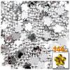 Rhinestones, Flatback, Flower, 10mm, 144-pc, Clear