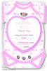 One Baby invitation, Hearts ribbon rose, rhinestones, Pink