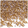 Half Dome Pearl, Plastic beads, 3mm, 1,440-pc, Golden Caramel Brown