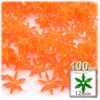 Starflake bead, SnowFlake, Cartwheel, Transparent, 12mm, 100-pc, Orange