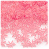 Starflake bead, SnowFlake, Cartwheel, Transparent, 12mm, 100-pc, Pink
