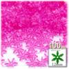 Starflake bead, SnowFlake, Cartwheel, Transparent, 12mm, 100-pc, Hot Pink
