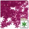 Starflake bead, SnowFlake, Cartwheel, Transparent, 12mm, 100-pc, Fuchsia