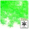 Starflake bead, SnowFlake, Cartwheel, Transparent, 12mm, 100-pc, Light Green