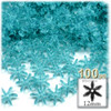 Starflake bead, SnowFlake, Cartwheel, Transparent, 12mm, 100-pc, Aqua
