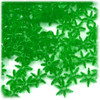 Starflake bead, SnowFlake, Cartwheel, Transparent, 12mm, 100-pc, Emerald green