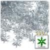 Starflake bead, SnowFlake, Cartwheel, Transparent, 12mm, 100-pc, Clear