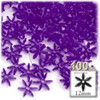 Starflake bead, SnowFlake, Cartwheel, Transparent, 12mm, 100-pc, Dark Purple