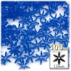 Starflake bead, SnowFlake, Cartwheel, Transparent, 12mm, 100-pc, Royal Blue