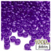 Pony Beads, Transparent, 9x6mm, 1,000-pc, Dark Purple