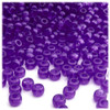 Pony Beads, Transparent, 9x6mm, 1,000-pc, Dark Purple, no insert