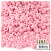 Pony Beads, Opaque, 6x9mm, 100-pc, Pink