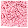 Pony Beads, Opaque, 6x9mm, 100-pc, Pink, no insert