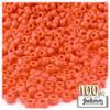 Pony Beads, Opaque, 6x9mm, 100-pc, Orange