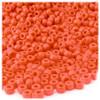 Pony Beads, Opaque, 6x9mm, 100-pc, Orange, no insert