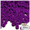 Pony Beads, Opaque, Neon, 6x9mm, 100-pc, Bright Purple Neon