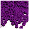 Pony Beads, Opaque, Neon, 6x9mm, 100-pc, Bright Purple Neon, no insert