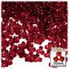 Plastic Tri-Bead, Transparent, 11mm, 200-pc, Raspberry Red