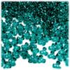 Plastic Tri-Bead, Transparent, 11mm, 200-pc, Teal
