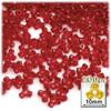Plastic Tri-Bead, Transparent, 11mm, 200-pc, Christmas Red