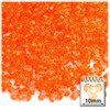 Plastic Tri-Bead, Transparent, 11mm, 1,000-pc, Orange