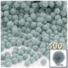 Acrylic Pom Pom, 7mm, 100-pc, Gray
