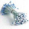 Pearl Stamen, Two Tone, Vintage, 3mm, 144-pc, Light Blue with White tip