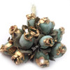 Artificial flowers, Gold Dipped Tips, Tulips, 0.5-inch, 144-pc Rustic Light Green with gold tips