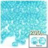 Plastic Faceted Beads, Transparent, 4mm, 200-pc, Light Aqua