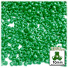 Tribeads, Opaque, Tribead, 10mm, 1,000-pc, Emerald green