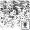 Rhinestones, Flatback, Heart, 4mm, 288-pc, Clear