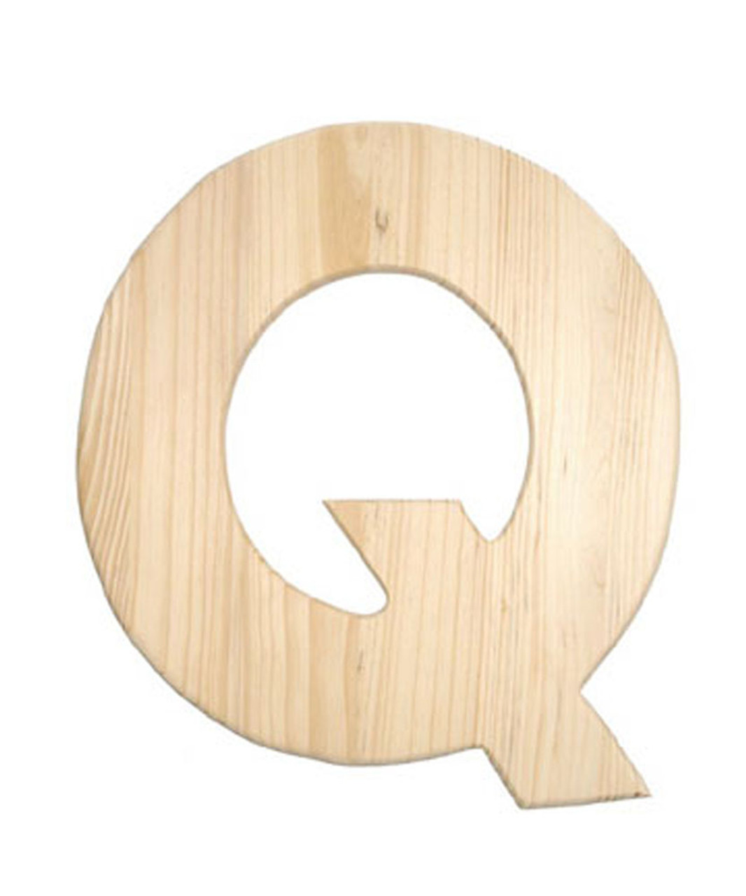 Wooden Letter, unfinished 0 5-inch between 8-11-inch, Letter Q