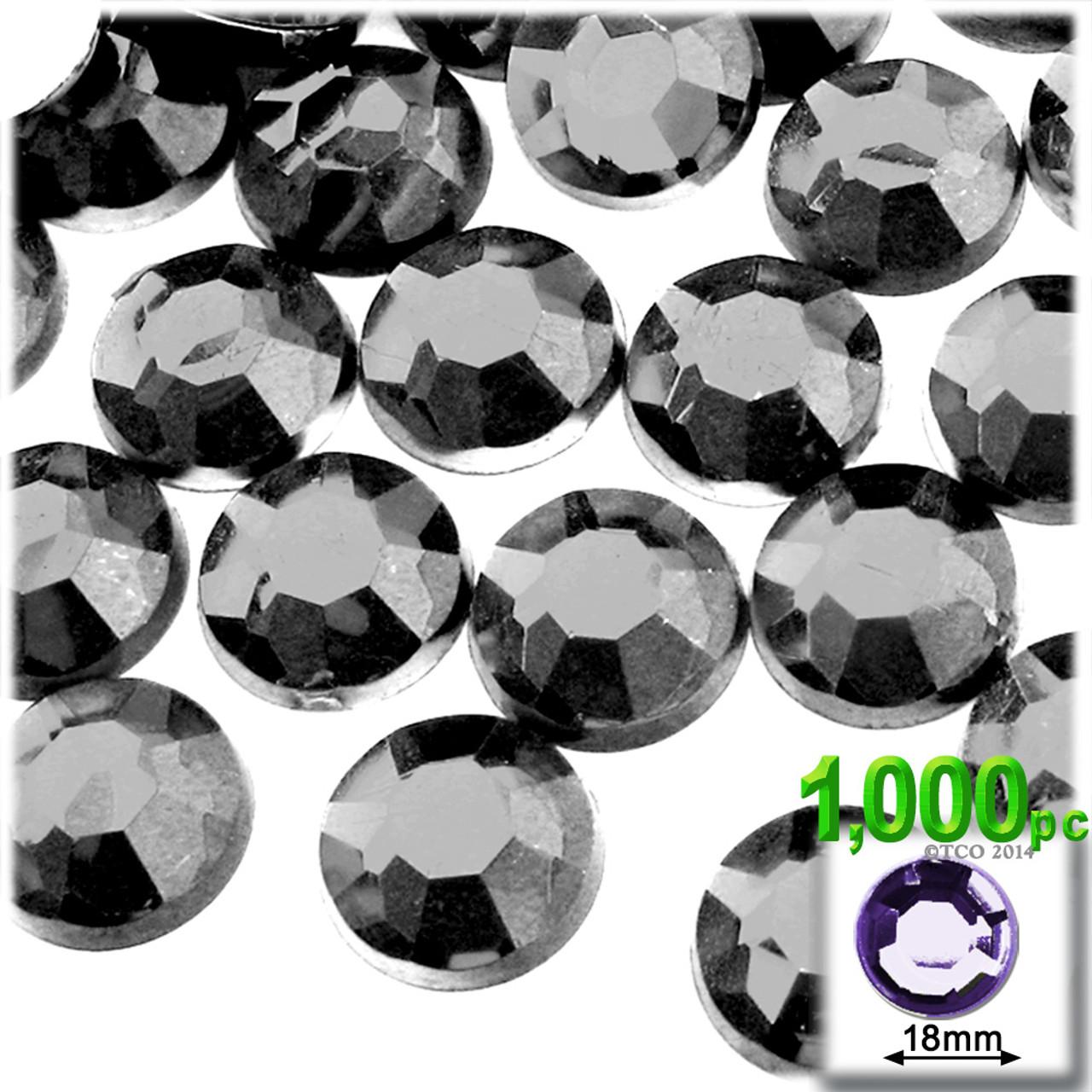 1000 BLACK Rhinestones 2mm Acrylic flatback gems round diamond shape