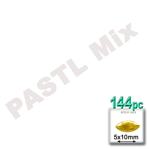 Rhinestones, Flatback, Eye, 5x10mm, 144-pc, Pastel Assortment