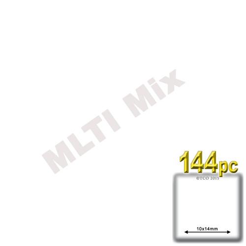 Rhinestones, Flatback, Teardrop, 14x10mm, 144-pc, Mixed Colors
