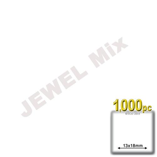 Rhinestones, Flatback, Teardrop, 13x18mm, 1,000-pc, Jewel Tone Assortment