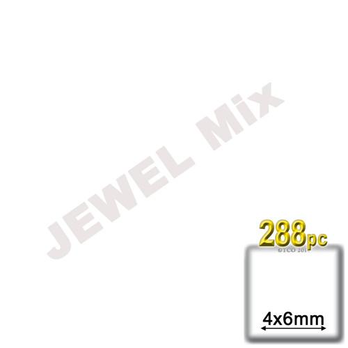 Rhinestones, Flatback, Teardrop, 4x6mm, 288-pc, Jewel Tone Assortment