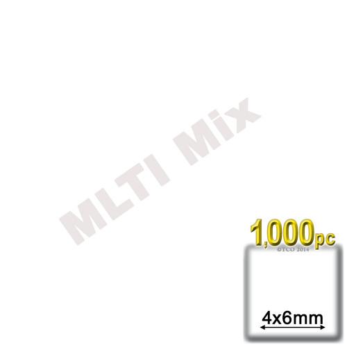 Rhinestones, Flatback, Teardrop, 4x6mm, 1,000-pc, Mixed Colors