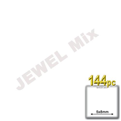Rhinestones, Flatback, Teardrop, 5x8mm, 144-pc, Jewel Tone Assortment